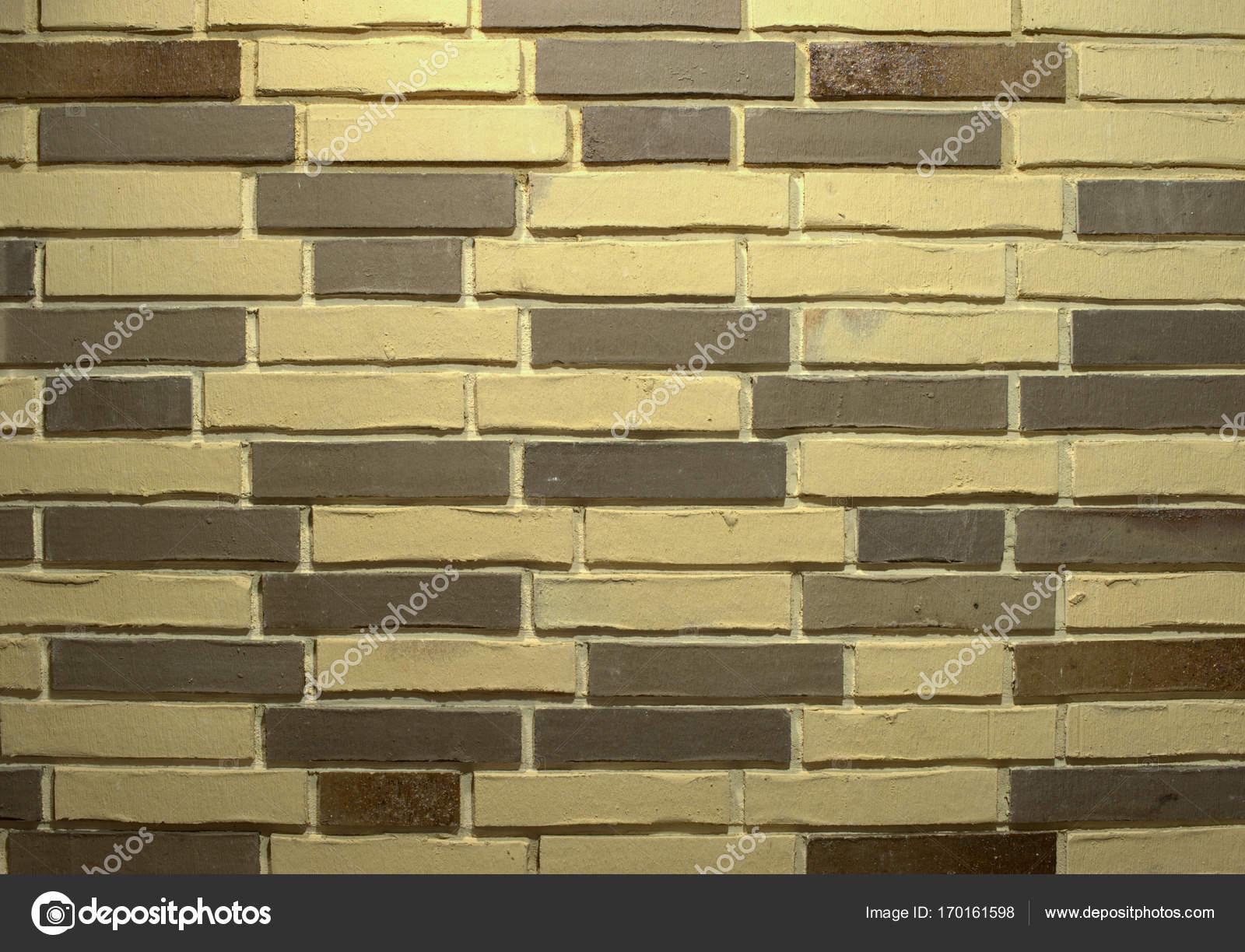 Decorative brickwork. Combination of dark and light bricks — Stock ...