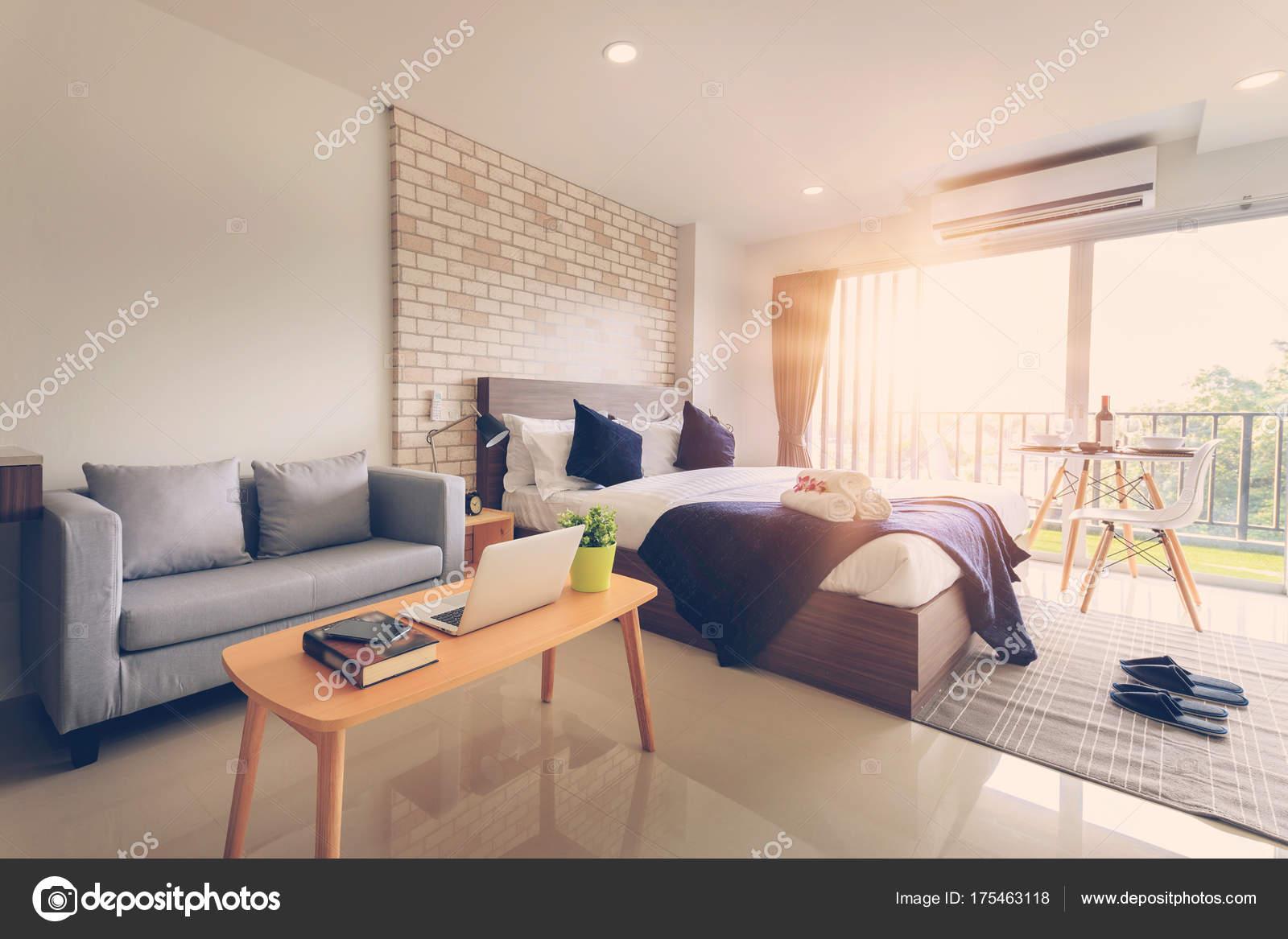 Dise o interiores dormitorios hotel hotel foto de stock for Diseno de interiores dormitorios