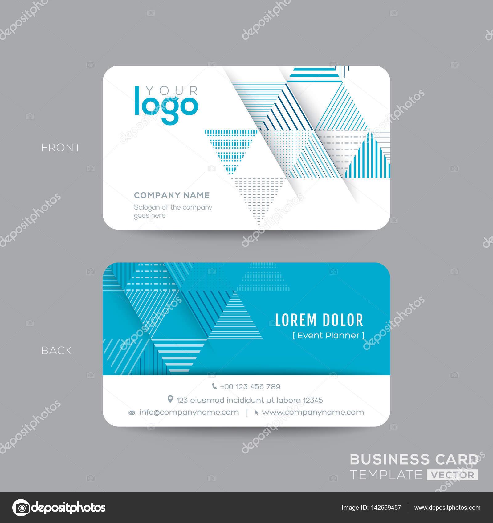 Blue triangle modern business card design stock vector kraphix blue triangle modern business card design stock vector flashek Image collections