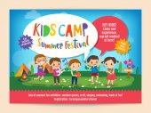 Kinder Sommer camp Bildung Poster flyer