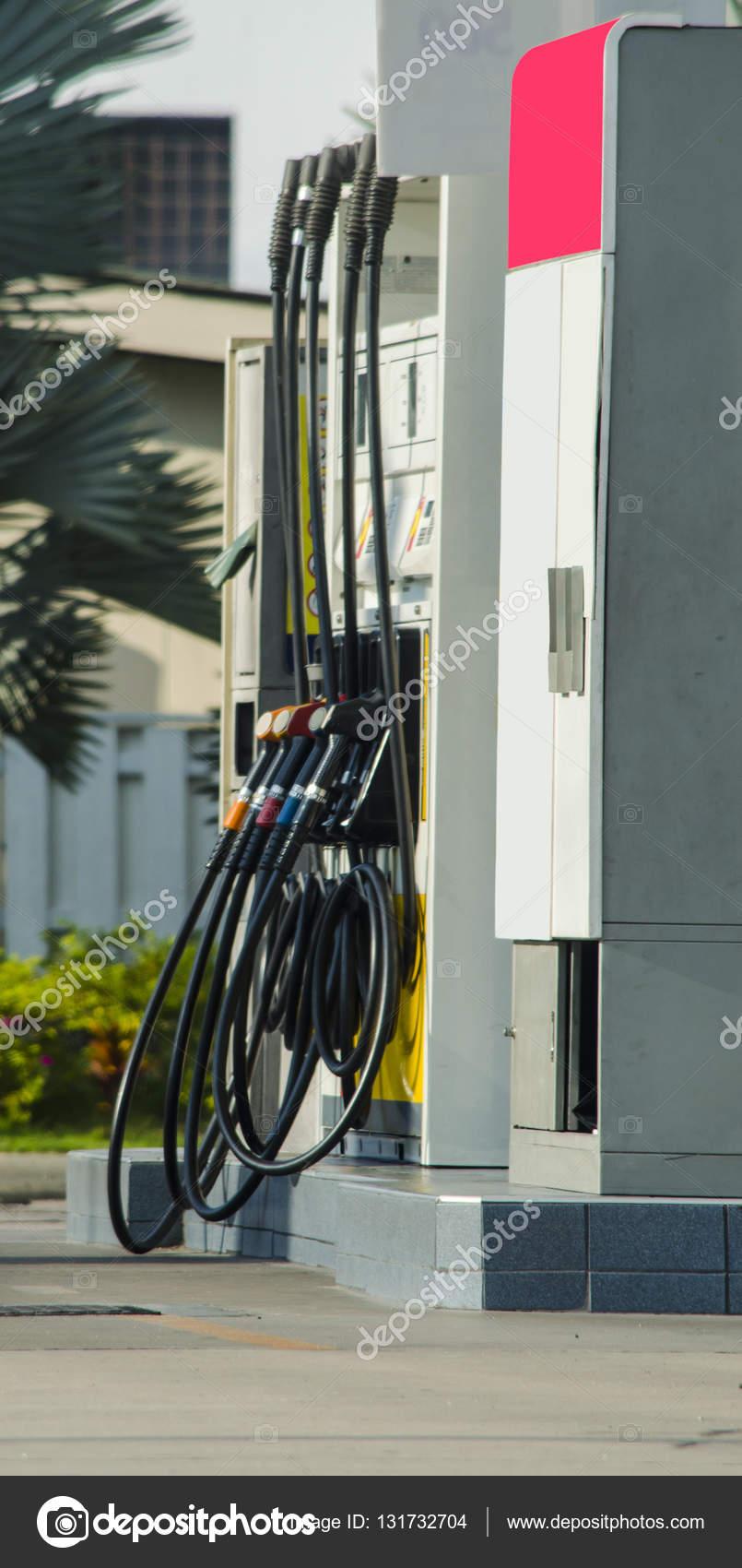 2e480c3ad402 Estación Gas Para Petróleo Diesel Gasolina Aceite Tailandia — Foto de Stock