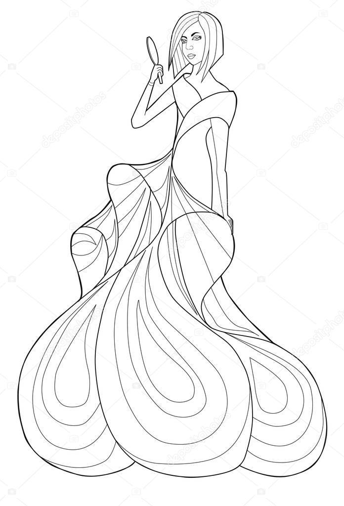 Tolle Kleid Malseite Bilder - Beispiel Wiederaufnahme Vorlagen ...