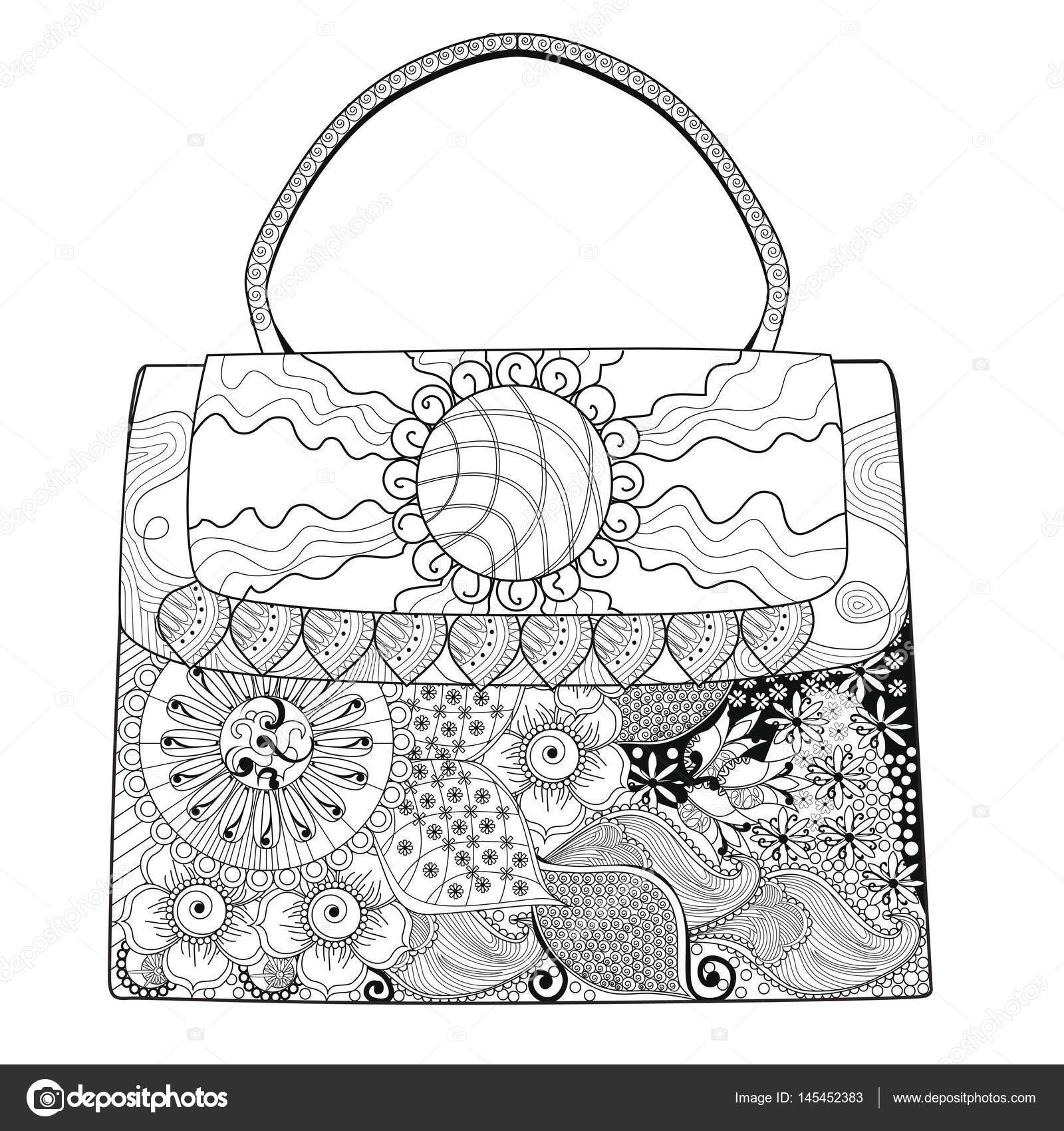 coloring pages of purses - photo#19