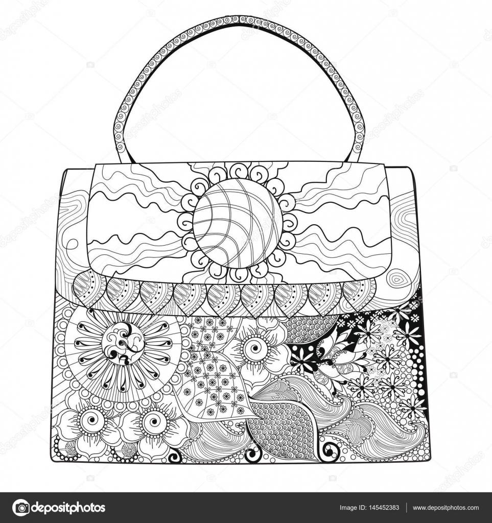 Tasche Malvorlagen Für Erwachsene Gewachsen Ups Coloring Für