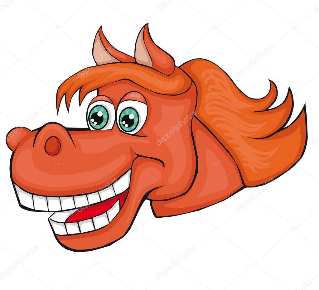 T te de cheval style cartoon image isol sur fond blanc clipart pour enfants image - Clipart cheval ...