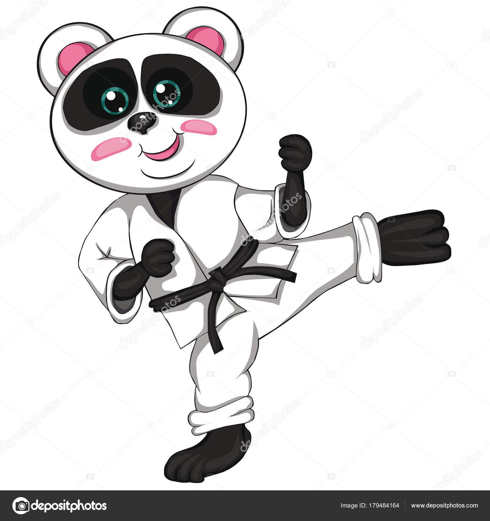 Dibujos Dibujo De Karate Para Niños Panda De Karate Estilo De