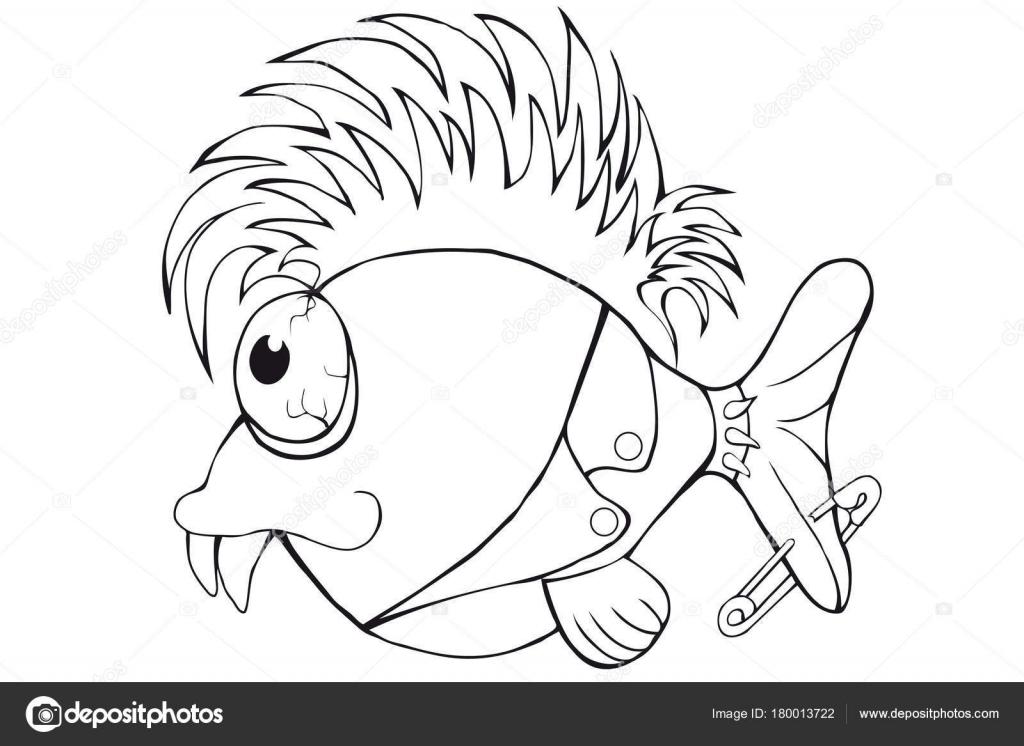 Imágenes: punk para colorear   Punk de peces para colorear. Imagen ...