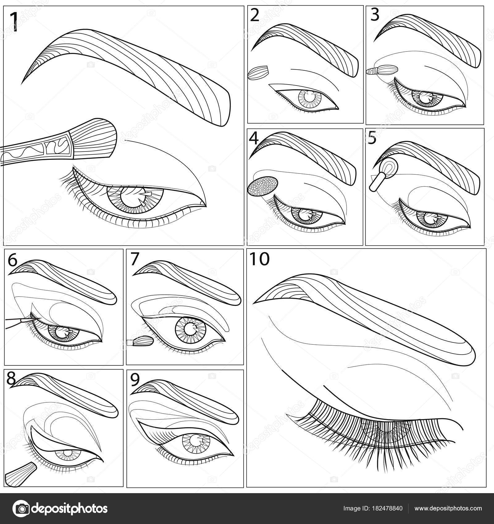 шаблон для макияжа арт терапия книжка раскраска для