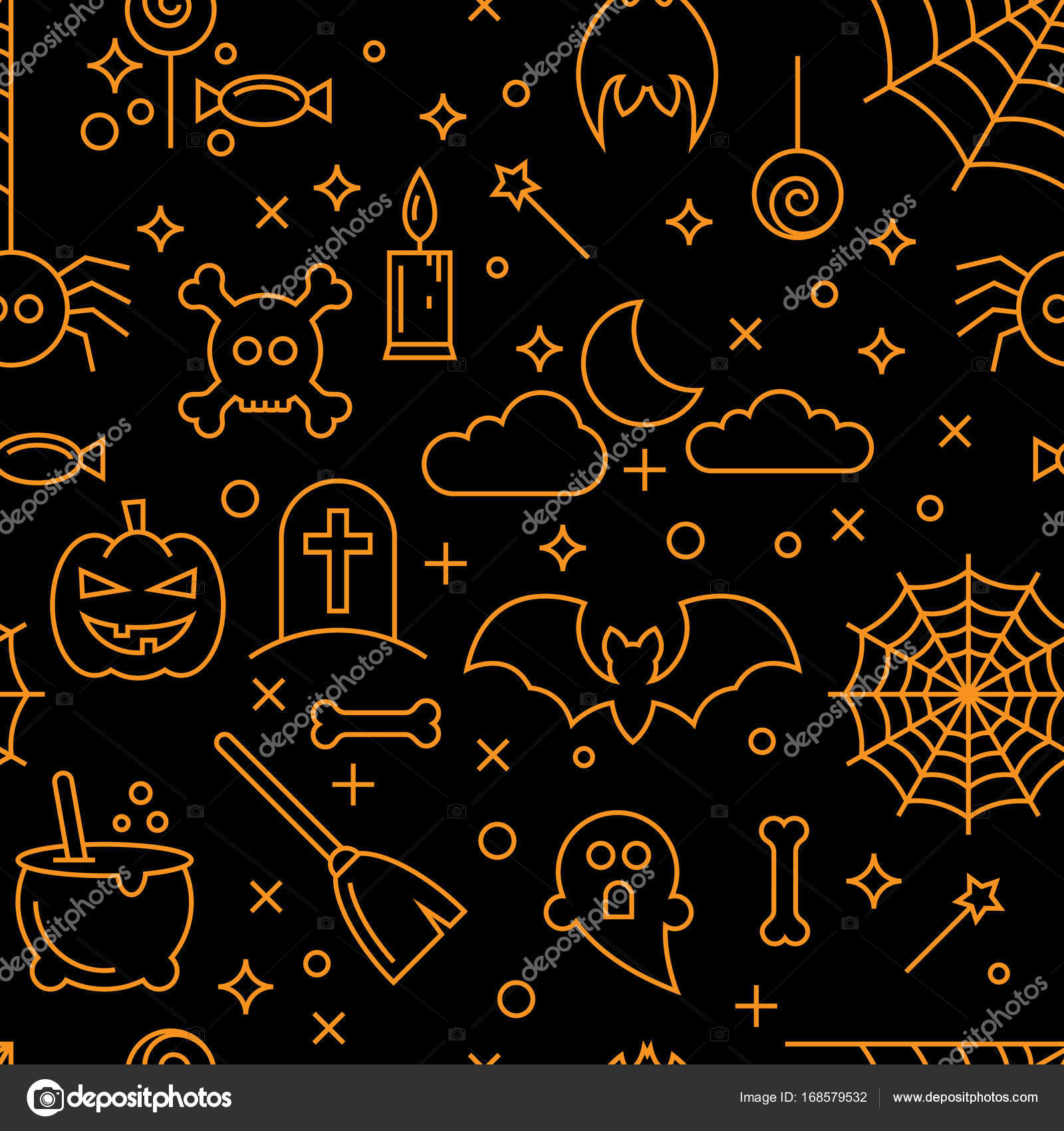Cool Wallpaper Halloween Gold - depositphotos_168579532-stock-illustration-abstract-seamless-halloween-wallpaper-pattern  Image_4818.jpg
