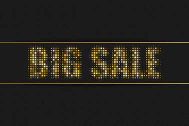 Big Sale golden halftone sign