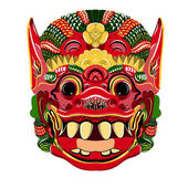 Photo Todsakan face which is the demon king in Thai Khon. Vector