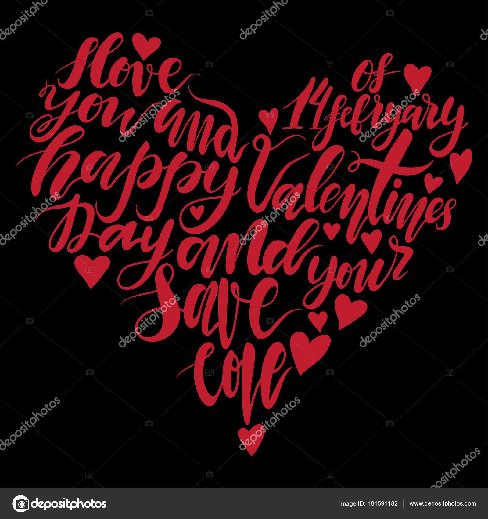 Serce Odręczny Napis Cytat O Miłości Do Projektowania Walentynki Lub