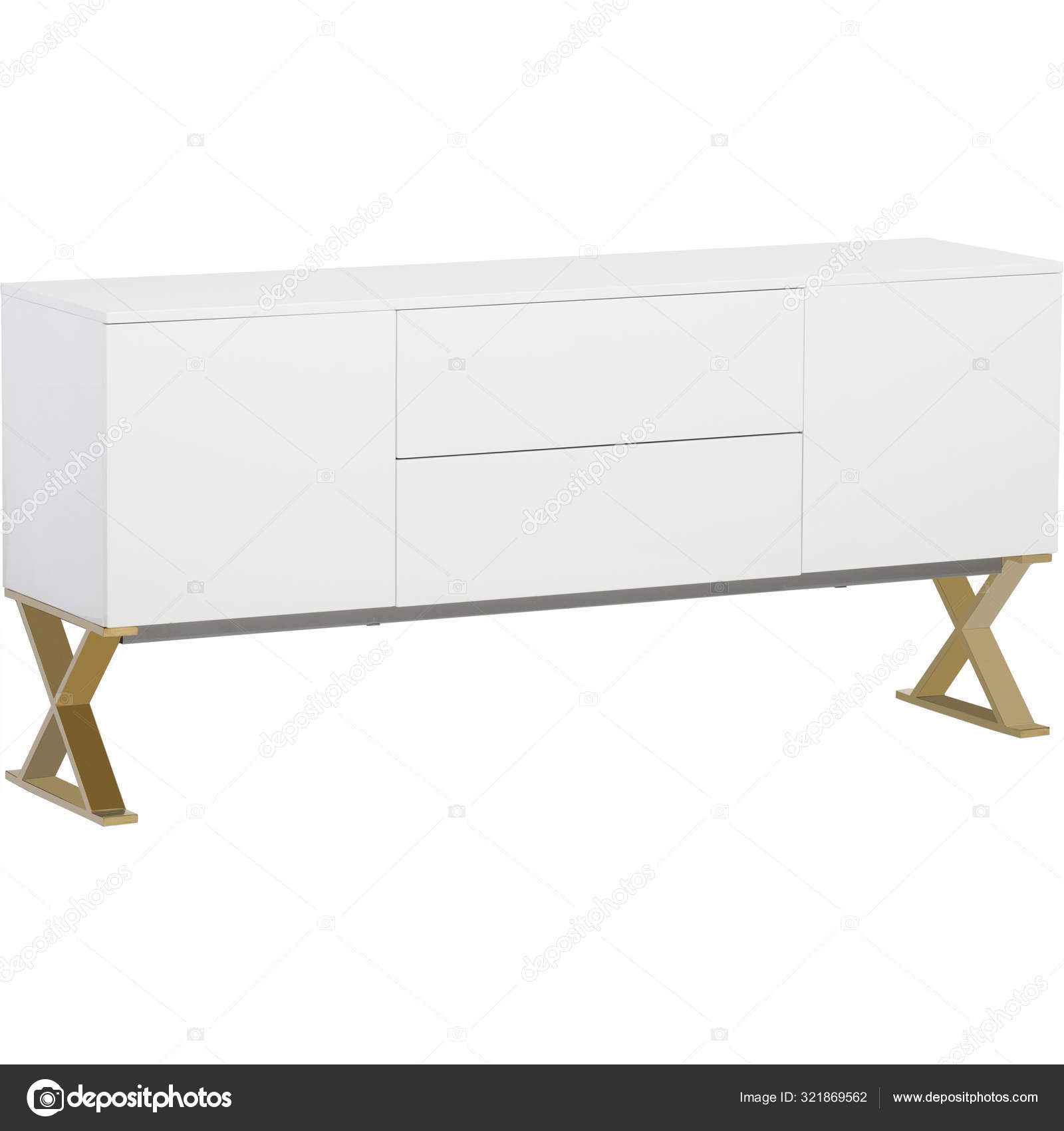 Modern Home Office Furniture Large Sideboard White Sideboard Media Cabinet With White Background Stock Photo C Jassdhiman 321869562
