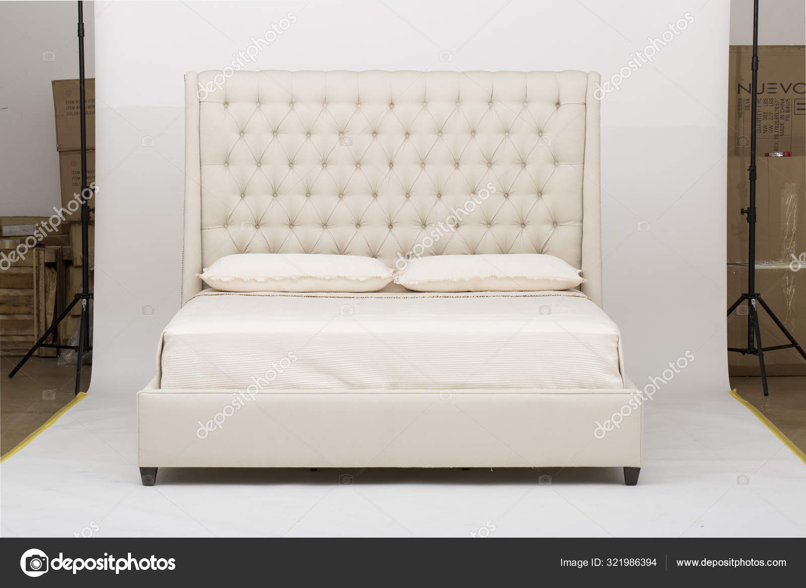 Sheet Set White Sheet Sets Sheets Pillow Cases White Striped Bed Sheets Cotton Stock Photo C Jassdhiman 321986394