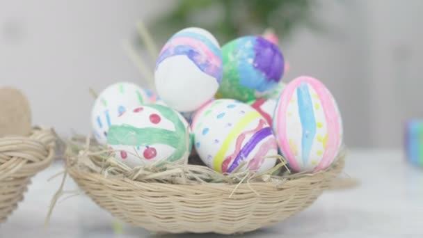 Easter Egg on basket .