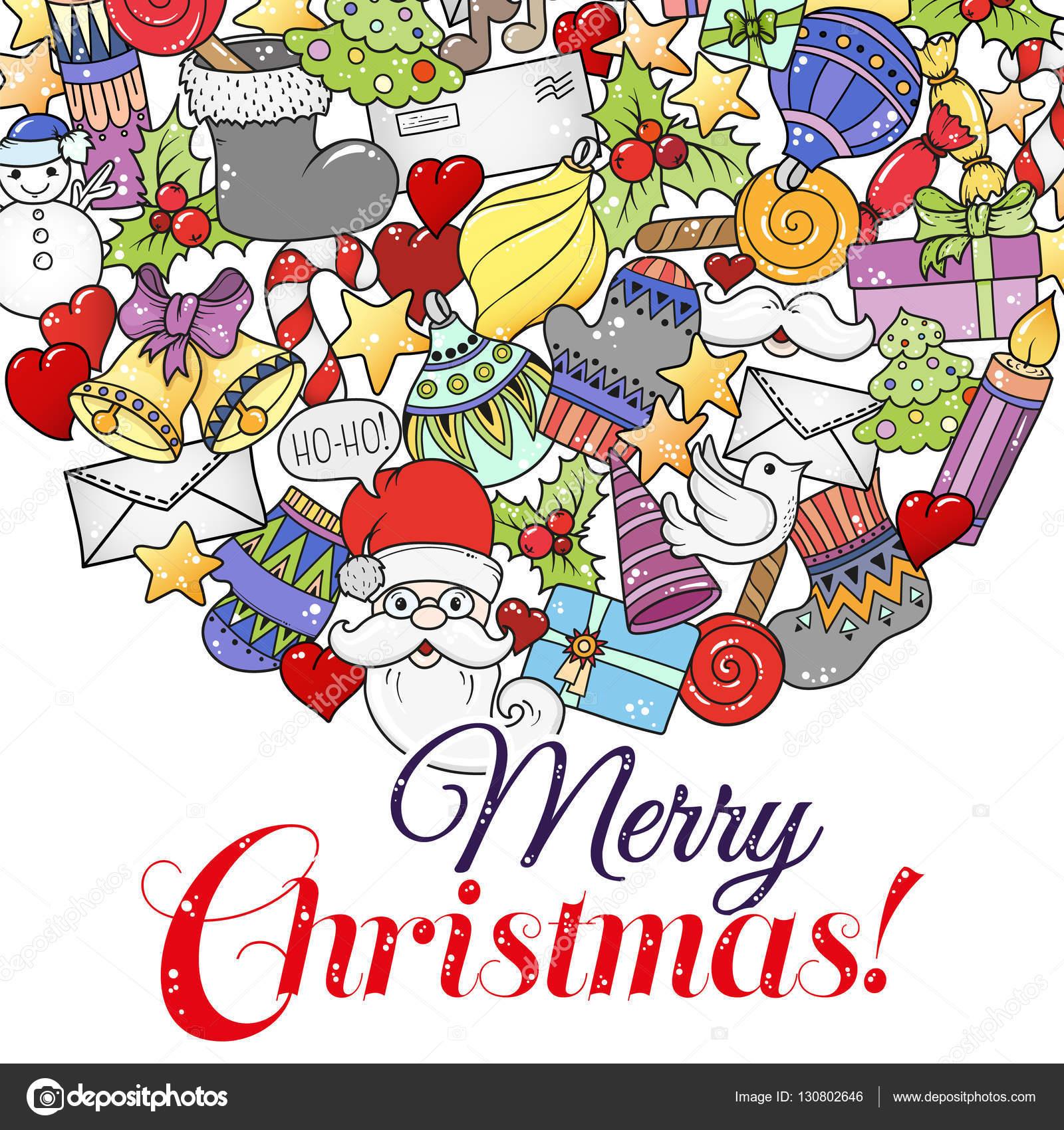 Frohe Weihnachten Set Xmas Bunte Muster Und Textvorlagen Ideal Für