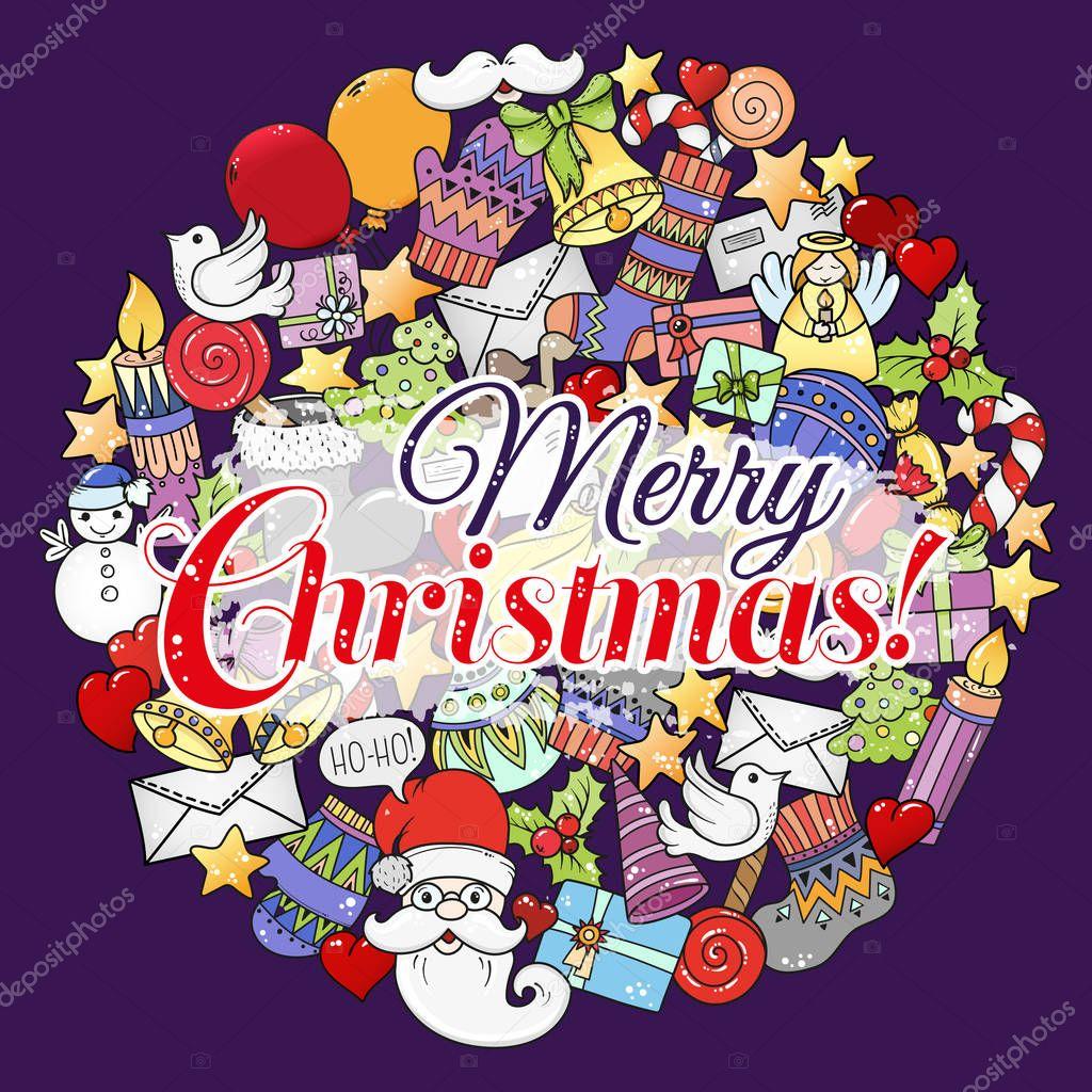 frohe weihnachten set xmas bunte muster und textvorlagen