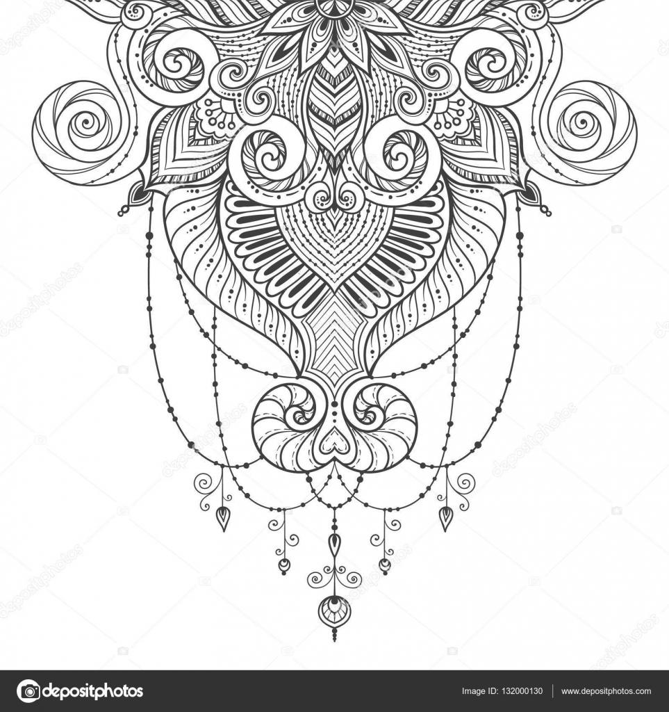 asiatischen ethnischen floral retro doodle schwarz wei hintergrundmuster in vektor islam. Black Bedroom Furniture Sets. Home Design Ideas
