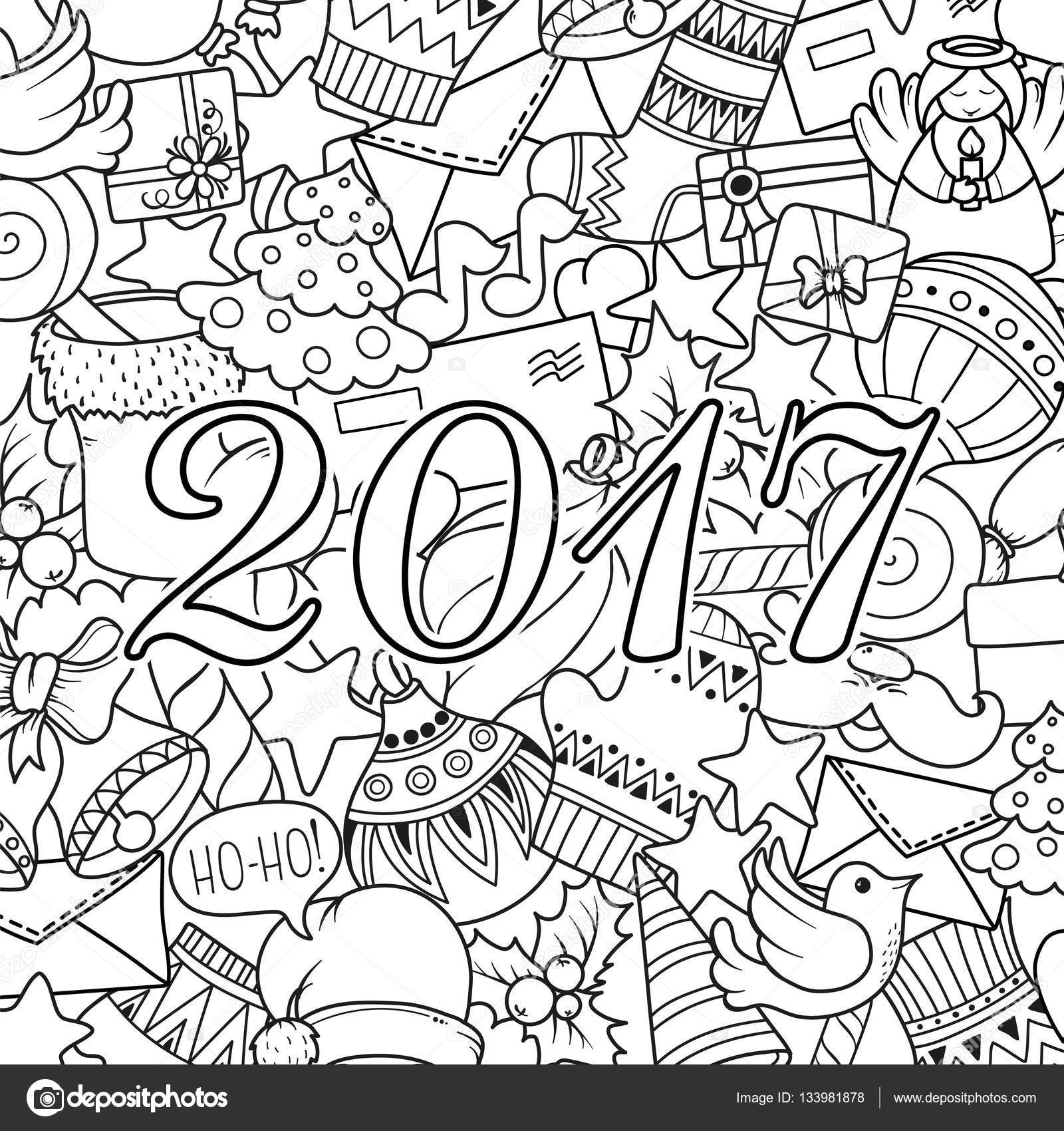 Merry christmas set of xmas monochrome pattern and text templates ...