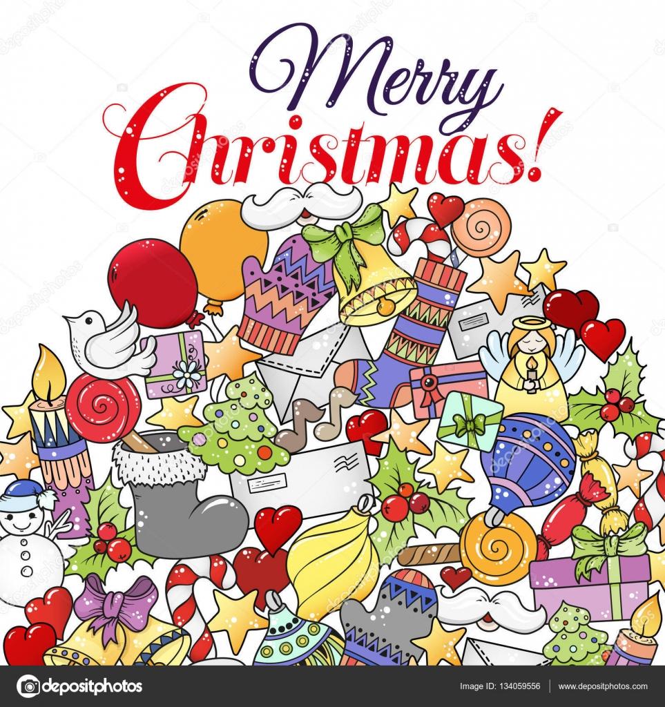Frohe Weihnachten Set Xmas Bunte Muster Ideal Für Urlaub Grußkarten