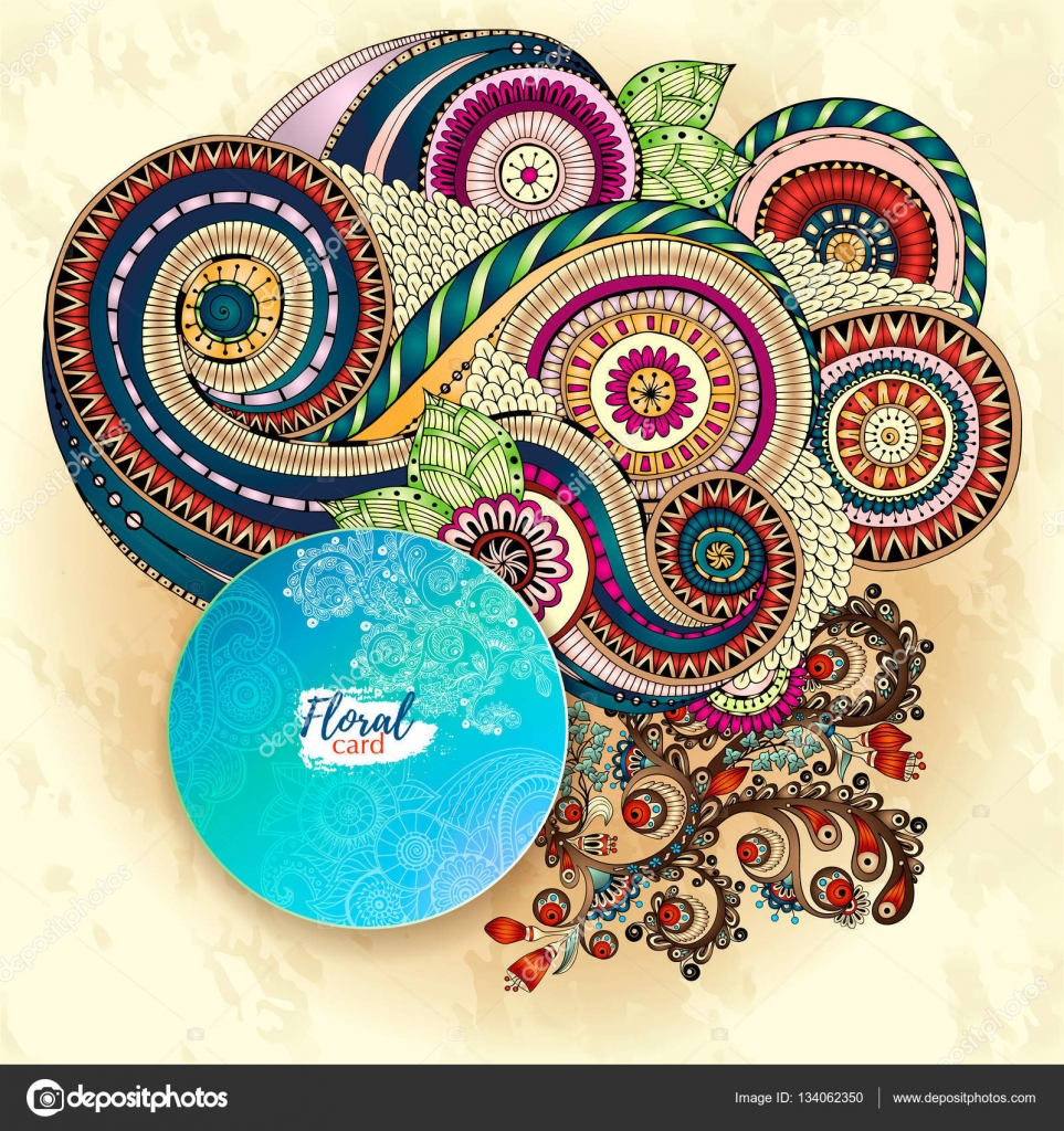 gratulationskort på webben Vector mall företagsidentitet. Business konstverk med akvarell  gratulationskort på webben