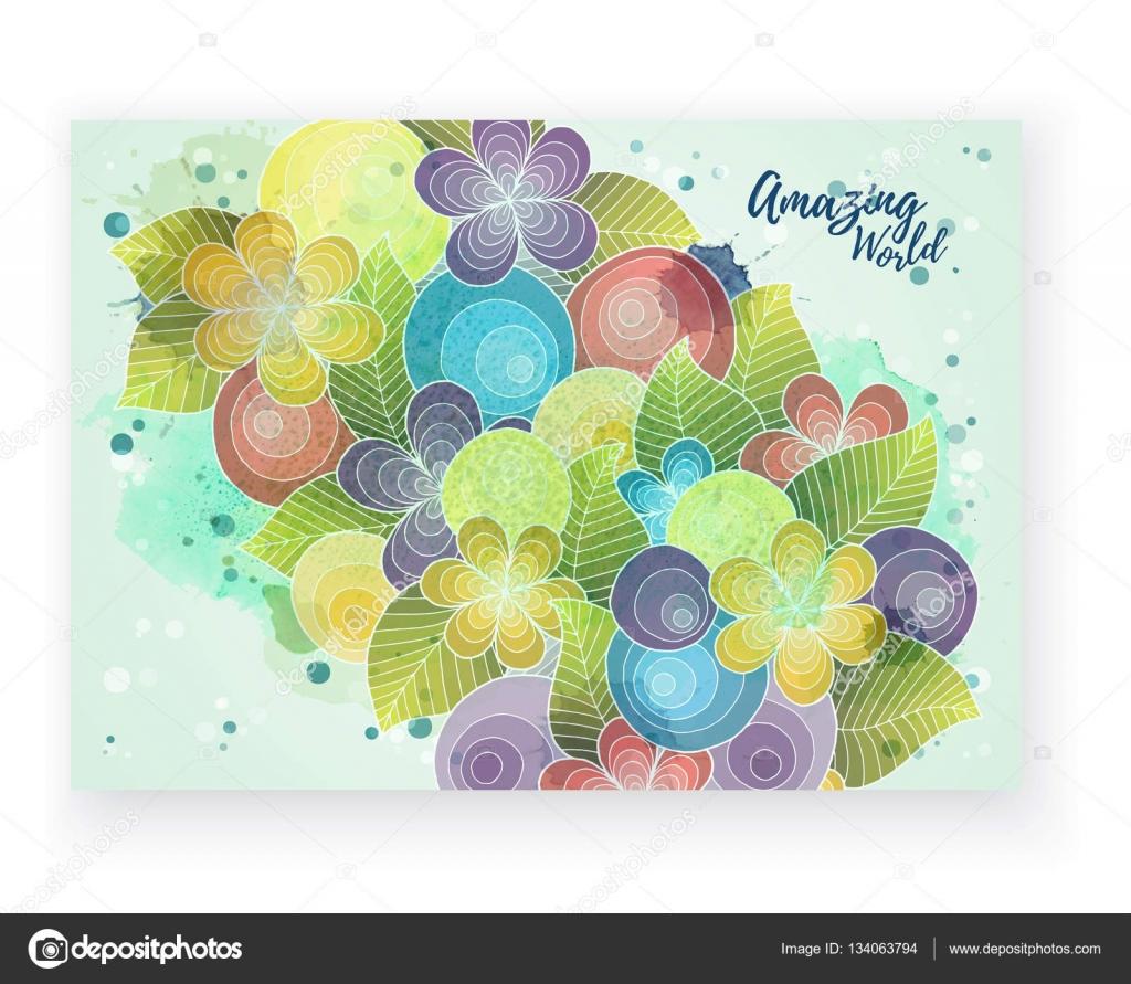 Tarjeta floral. Identidad corporativa de plantilla de vector. Obras ...
