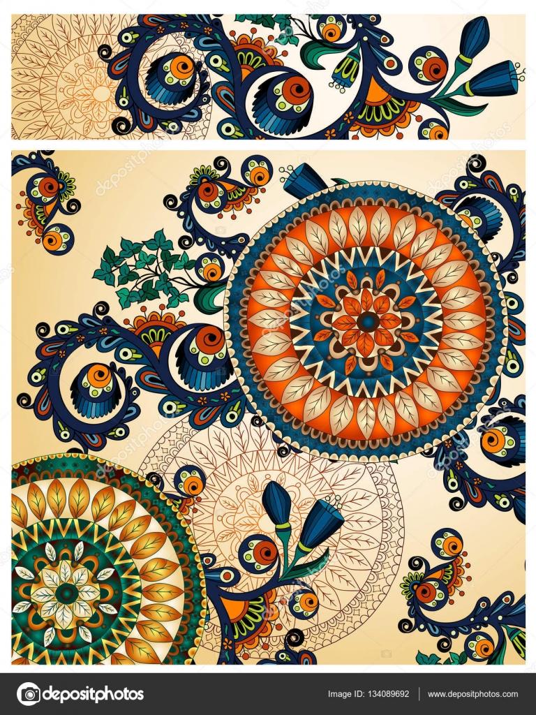 gratulationskort på webben Uppsättning av blommig kort. Hand dras konstverk med abstrakta  gratulationskort på webben