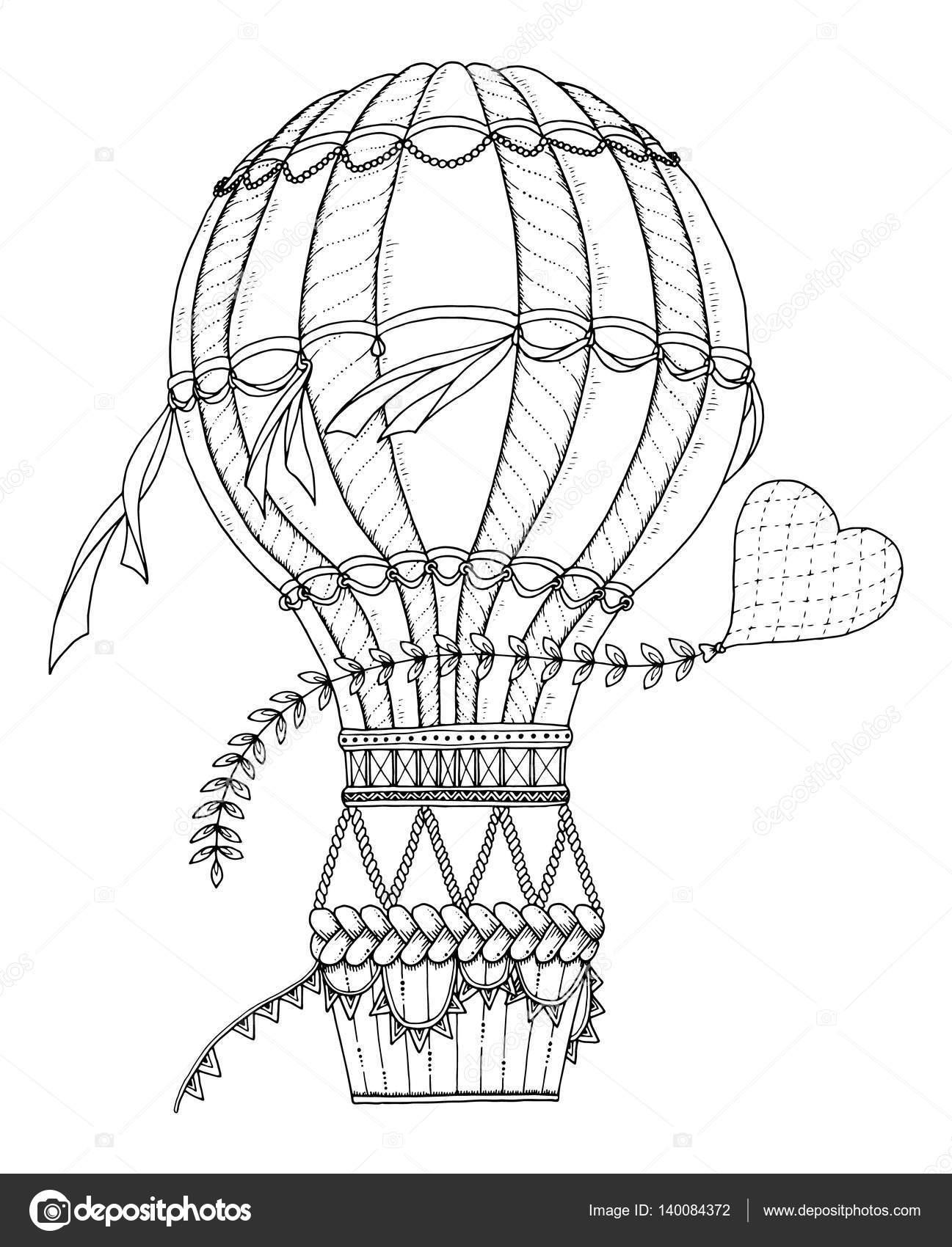gratis kleurplaat luchtballon kidkleurplaat nl