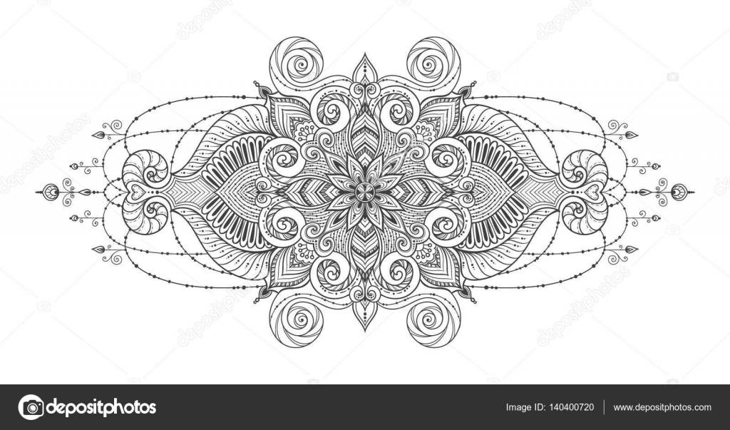 Mandala Vector Tattoo Perfecte Kaart Voor Elke Vorm Van Ontwerp