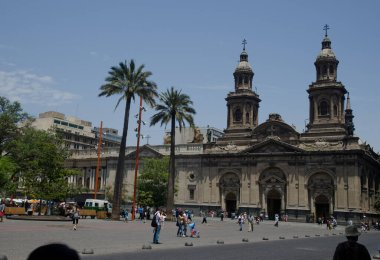 Metropolitan Cathedral in the Arm Square of Santiago de Chile.