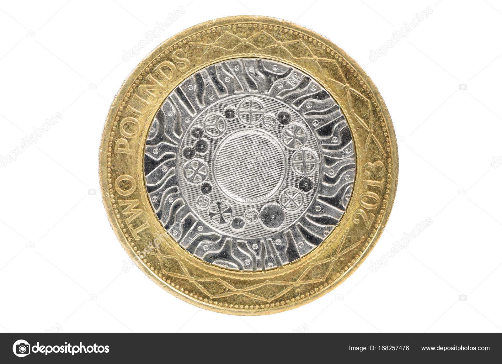 Nahaufnahme Des Britischen 2 Pfund Münze Stockfoto Mkos83 168257476