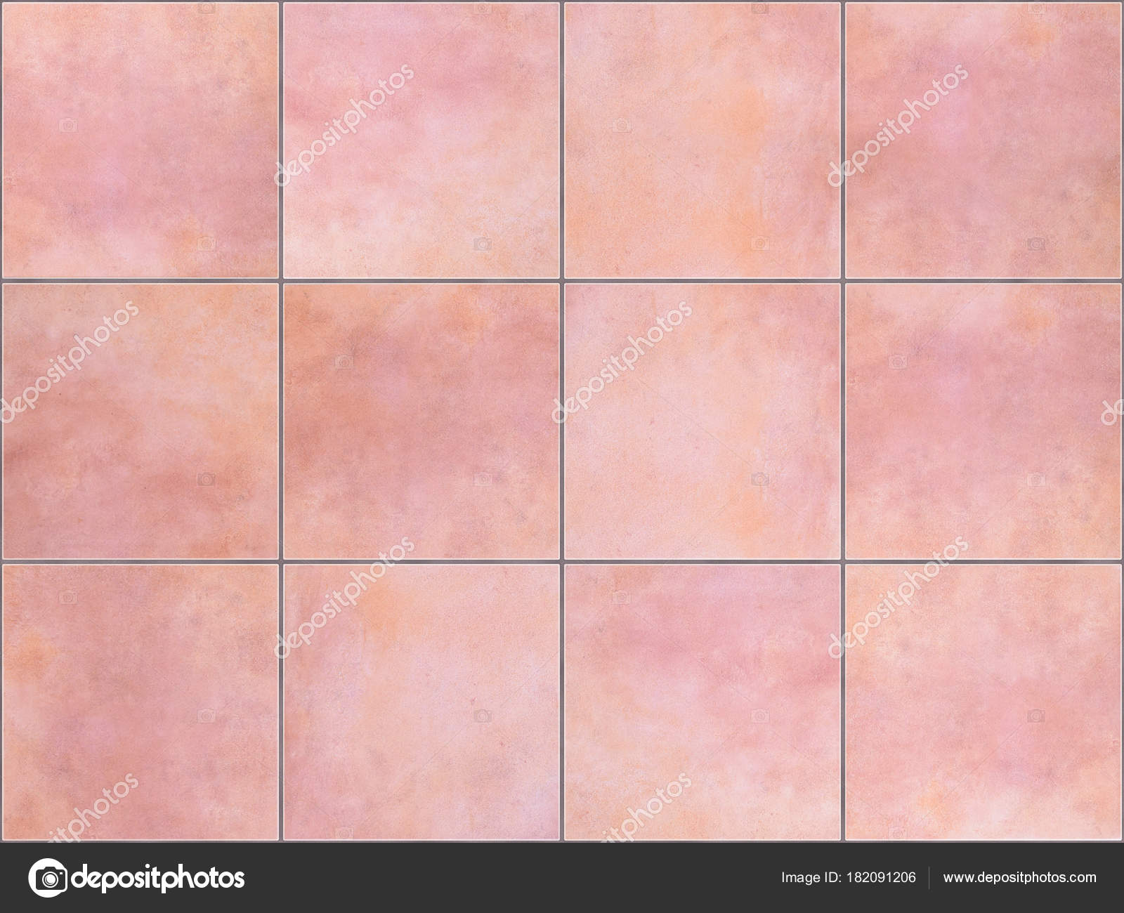 Seamless background made of pink floor tiles u stock photo