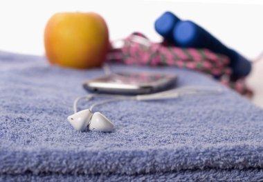 Headphones and sport equipment
