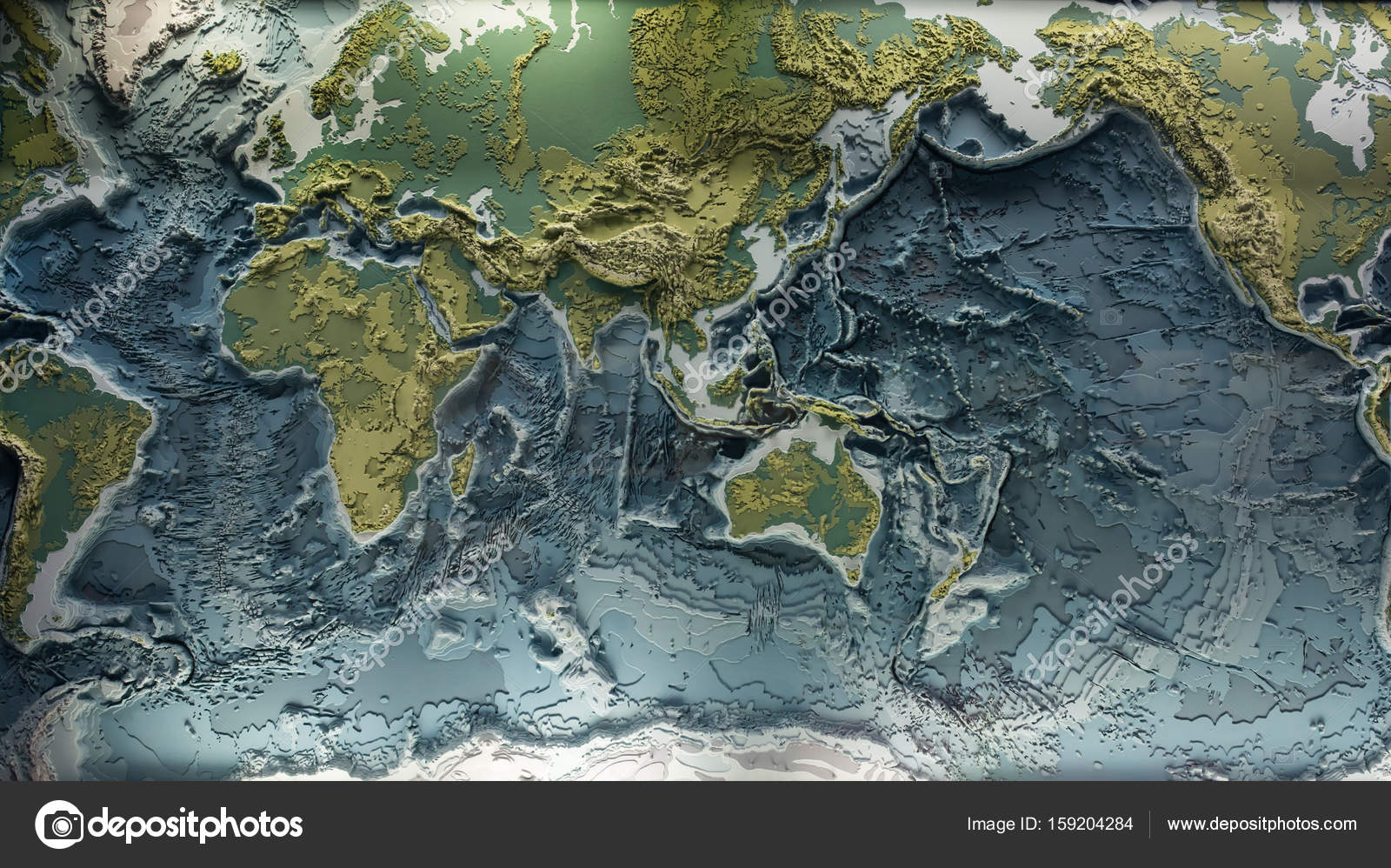 World relief 3d model stock photo budabar 159204284 3d printed model of earth relief with topographic heights of mountains and depth of oceans photo by budabar gumiabroncs Choice Image