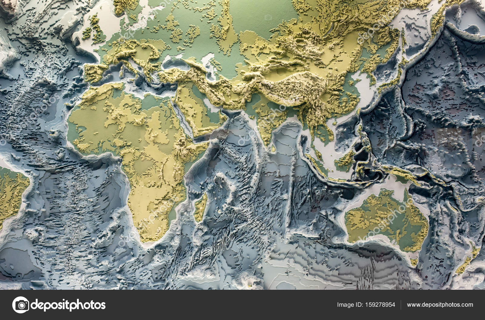 World relief 3d model stock photo budabar 159278954 3d printed model of earth relief with topographic heights of mountains and depth of oceans photo by budabar gumiabroncs Choice Image