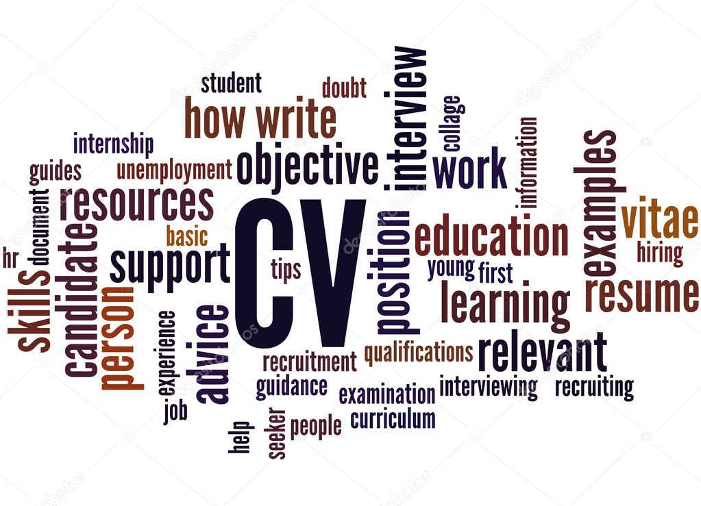 CV Curriculum Vitae Word Cloud Concept 2 Stock Photo