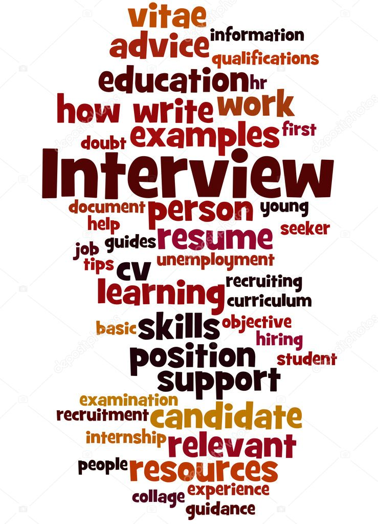 interview curriculum vitae word cloud concept 8 stock photo