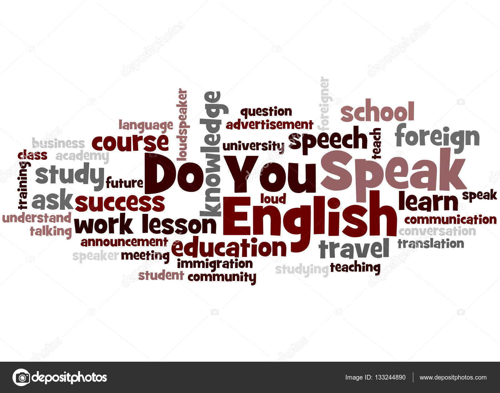 Do You Speak English, word cloud concept 6 — Stock Photo