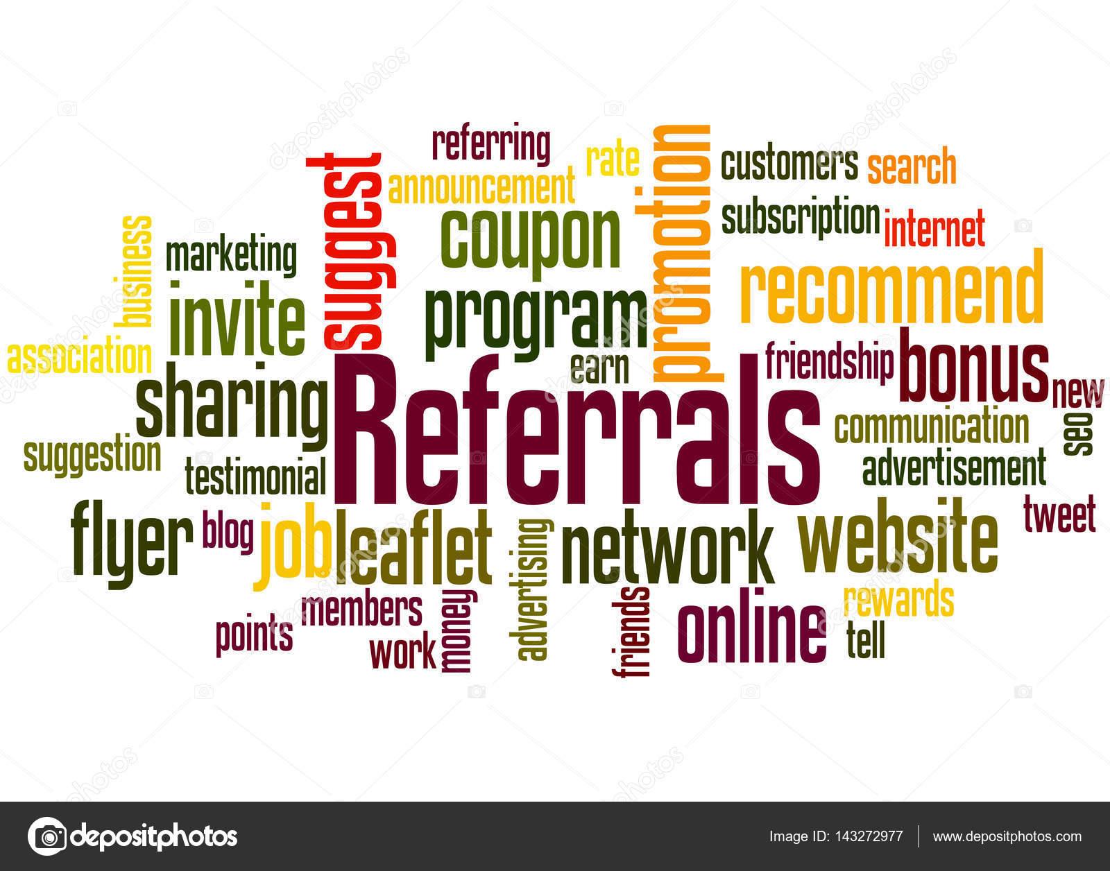 Referrals, word cloud concept 5 — Stock Photo © kataklinger