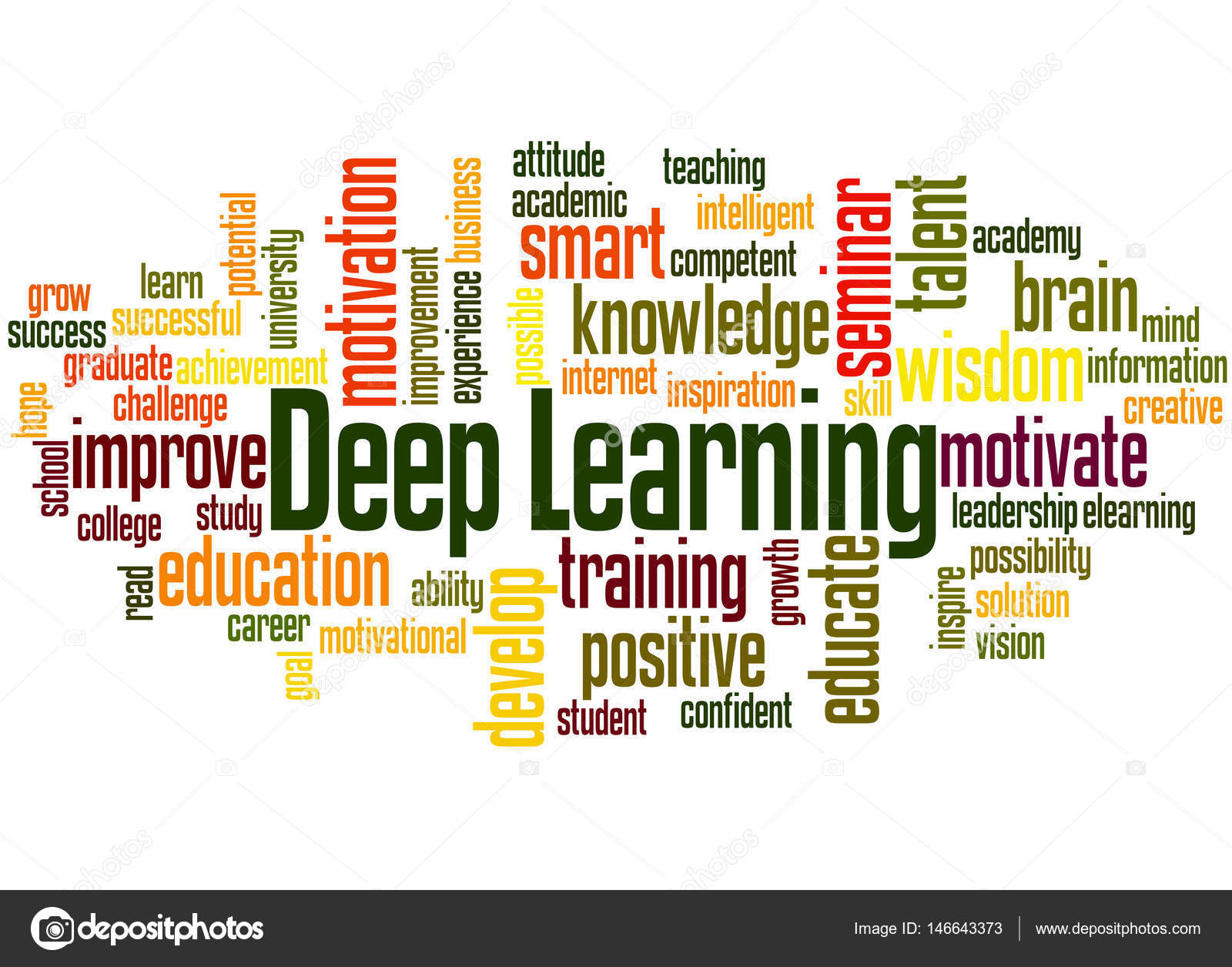 Deep Learning, word cloud concept 6 — Stock Photo ...