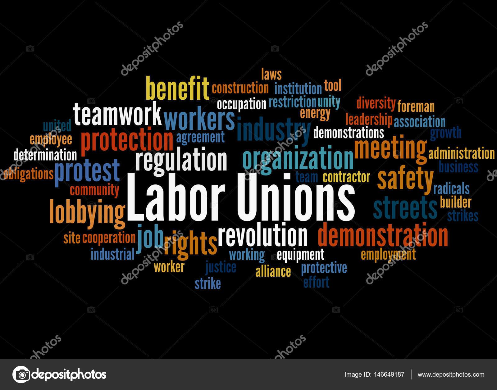 Labor Unions Word Cloud Concept 3 Stock Photo Kataklinger