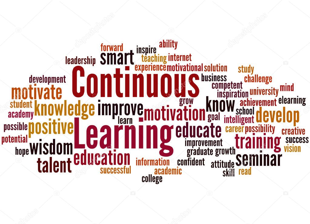 Continuous Learning, word cloud concept — Stock Photo ...