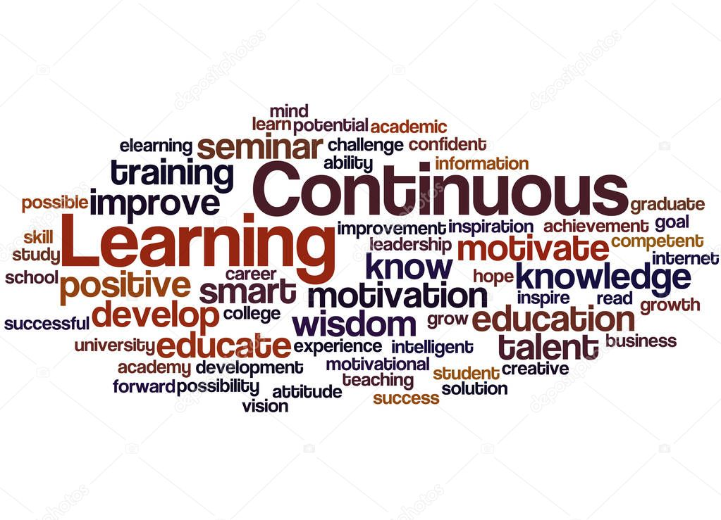 Continuous Learning, word cloud concept 3 — Stock Photo ...