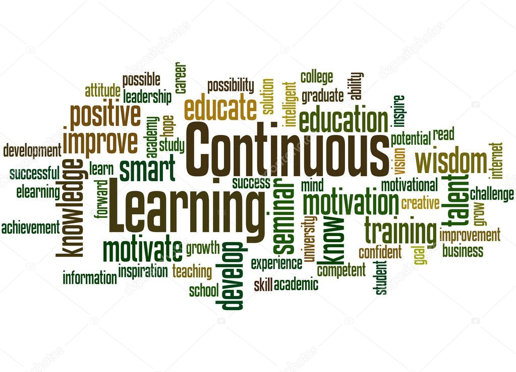 Continuous Learning, word cloud concept 7 — Stock Photo ...