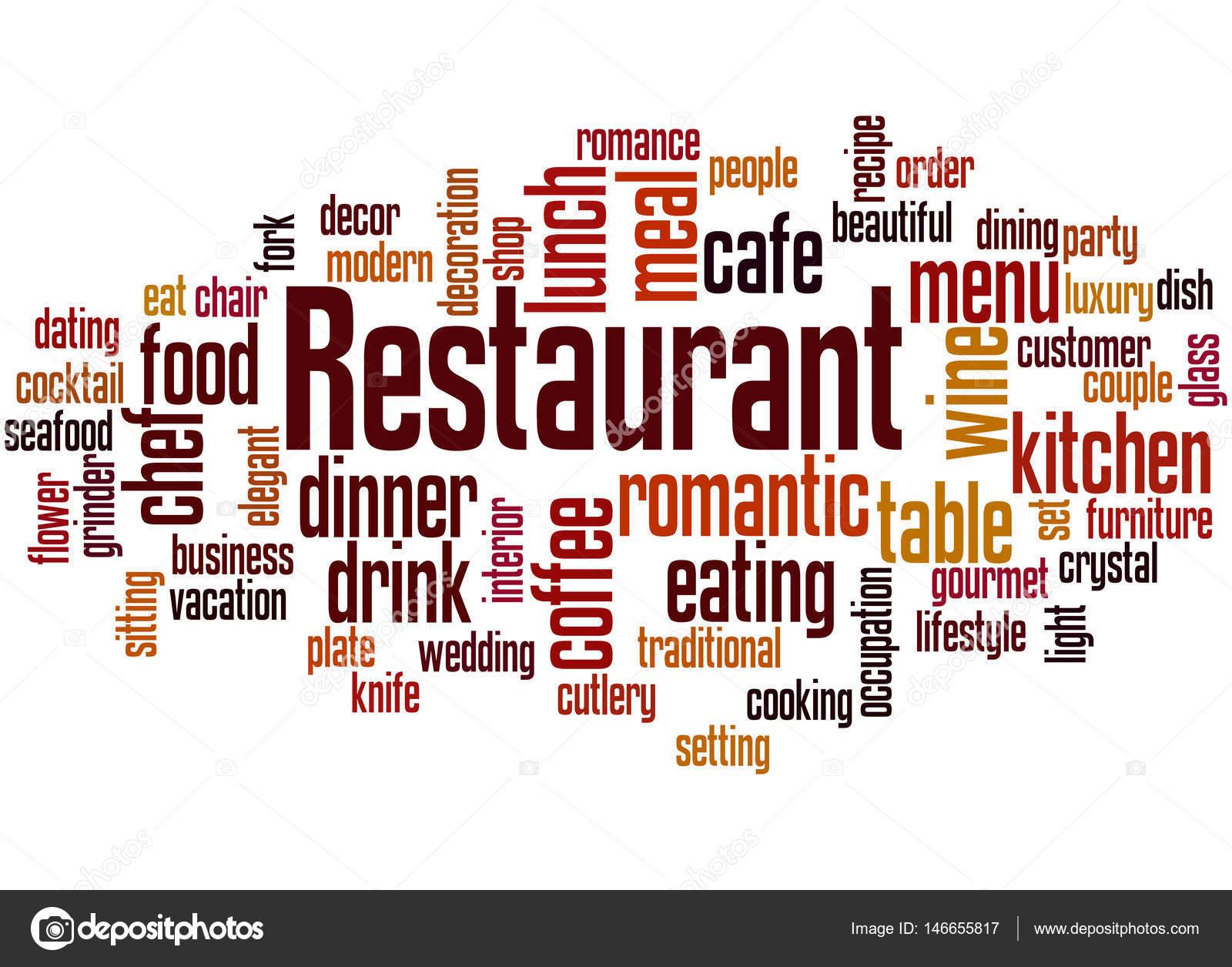 restaurant word cloud concept stock photo kataklinger 146655817
