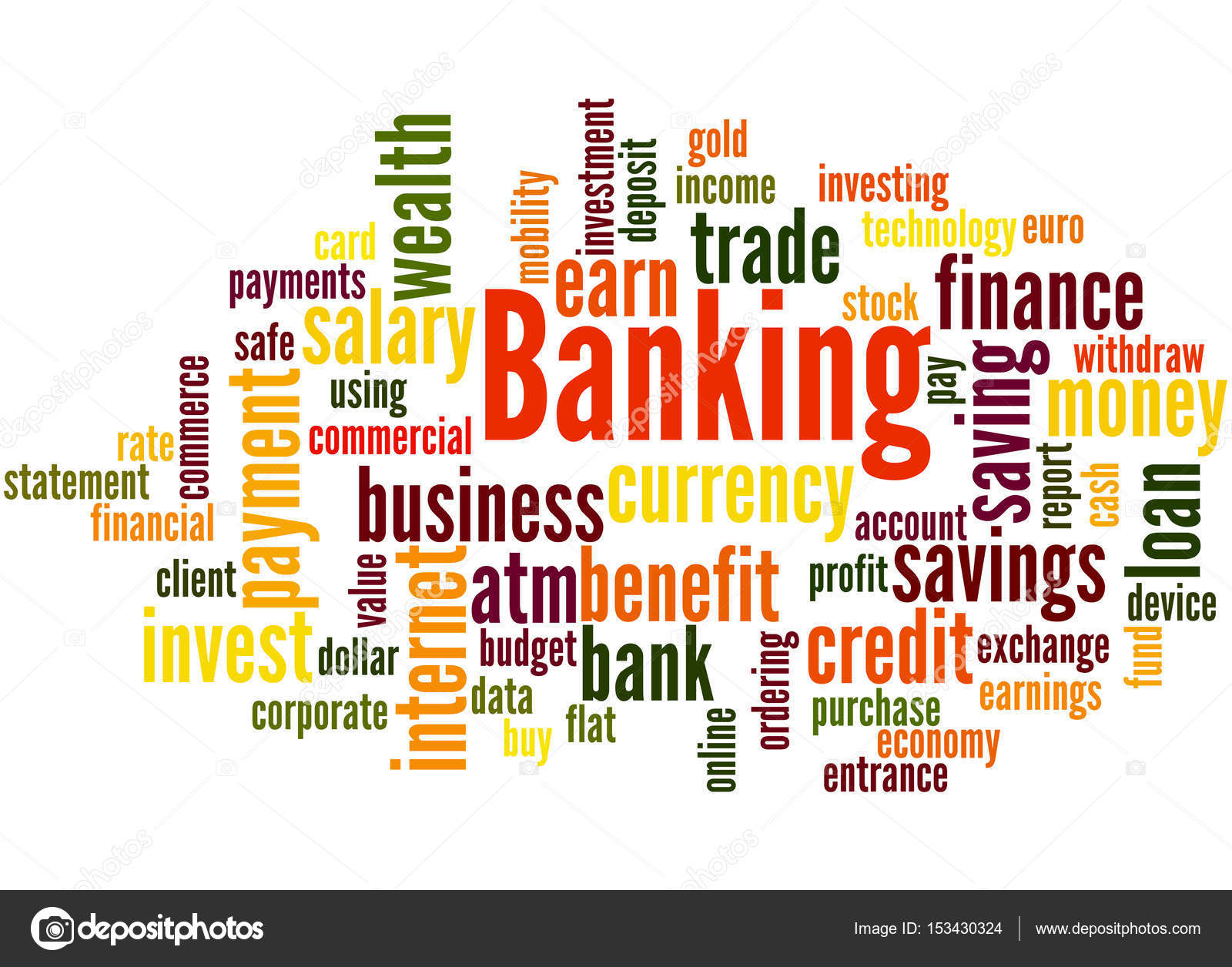 Banking word cloud concept 4 stock photo kataklinger 153430324 banking word cloud concept 4 stock photo reheart Images