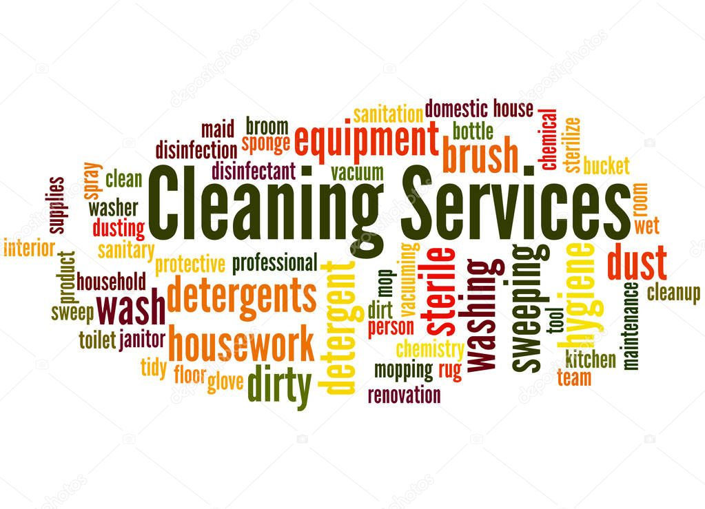 Cleaning Services Word Cloud Concept 2  U2014 Stock Photo