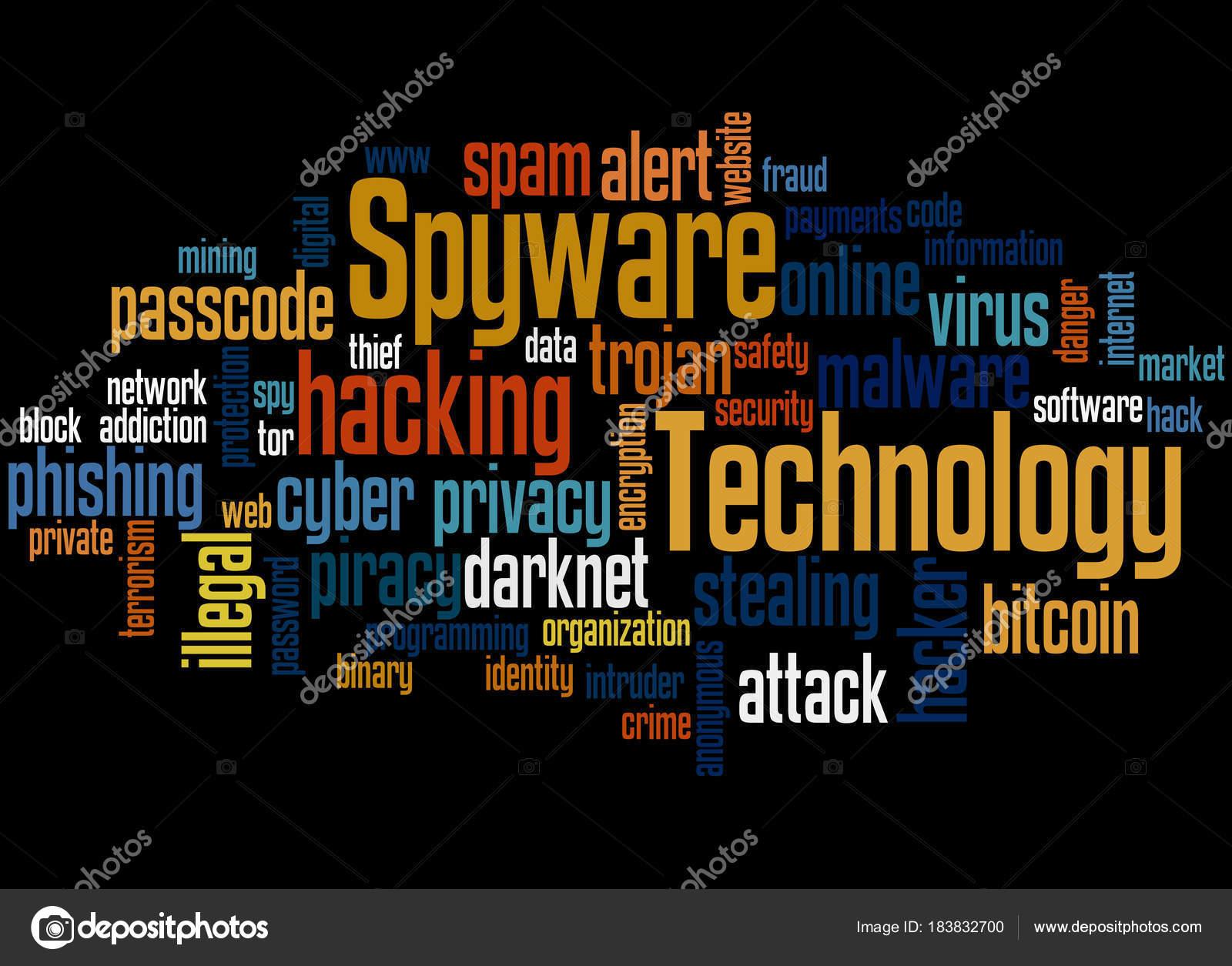スパイウェア技術単語雲概念 2 ストック写真 kataklinger 183832700
