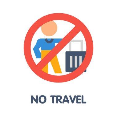 No travel flat icon style design illustration on white background eps.10
