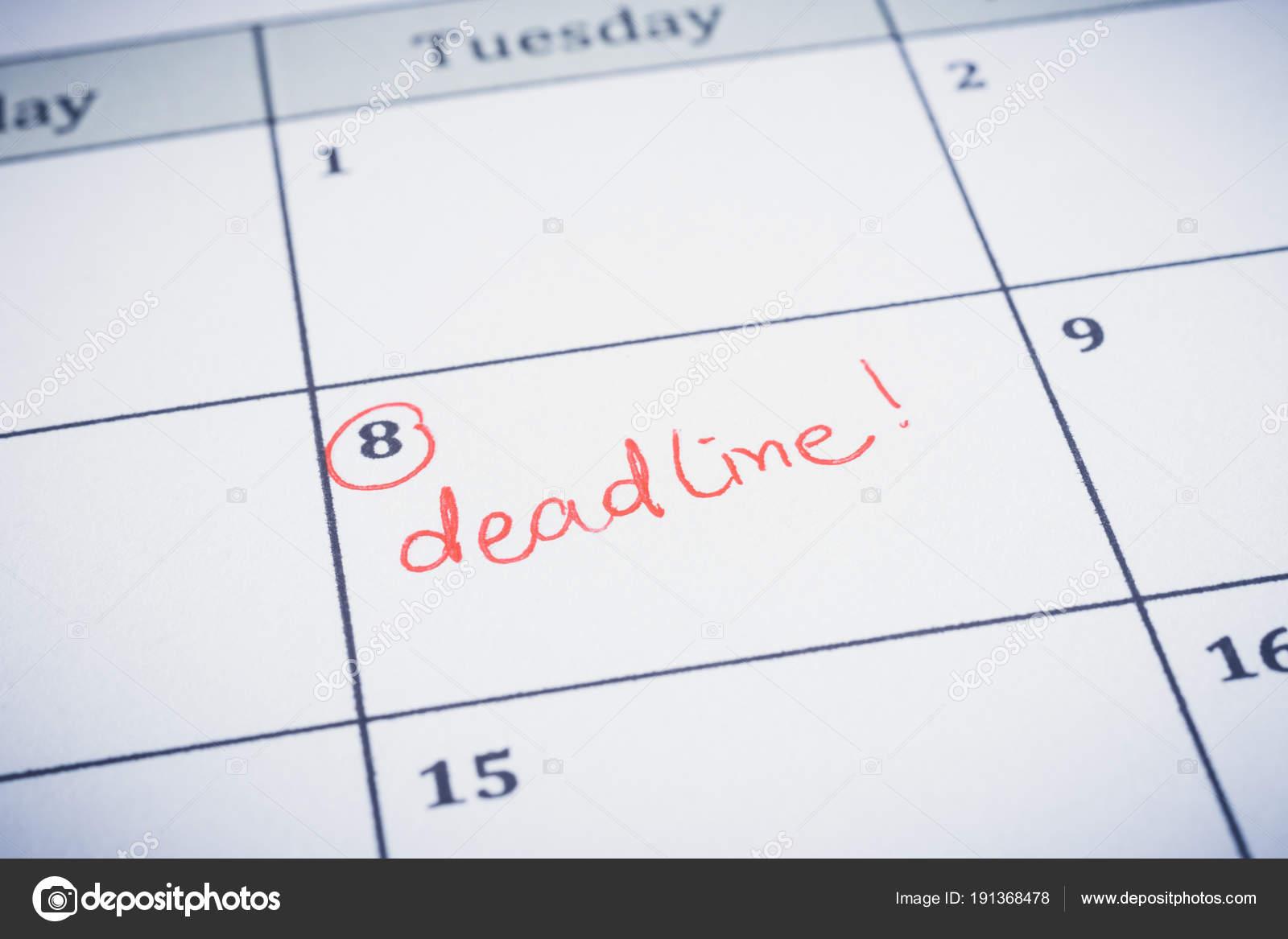 Fecha de escritura en el planificador de la línea de tiempo — Fotos ...